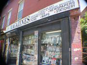 Outside of Casa Magazines, a NYC newsstand.