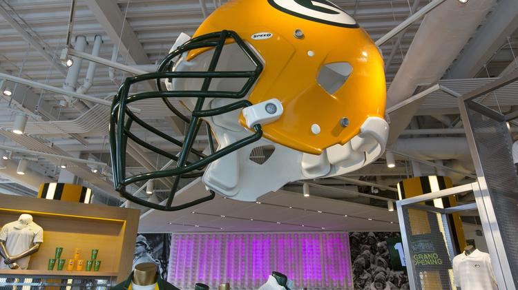 hot sale online 4010a aaa35 First look inside the new Green Bay Packers Pro Shop ...