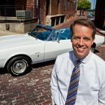 Downtown with the top down — Fluhr's passion is restoring cars, downtown Wichita