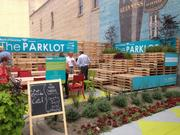Constructed from mostly from wooden shipping pallets, the Parklot is open from 6 a.m. to 11 p.m. every day.
