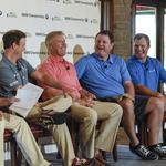 John Elway takes on John Lynch in BMW Championship golf exhibition