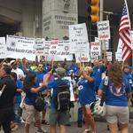 """Carpenters, Letter Carriers join forces in """"economic war"""" at Convention Center"""