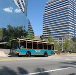 Downtown trolley try-out a success