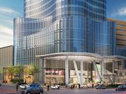 An artist's rendering of the exterior of the expanded Copley Place.