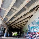 Here's what the proposed urban art park under the JFX looks like now