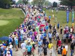 Crews worked to control litter during PGA Championship