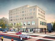 501 H St. NE, as proposed by Douglas Development in August 2014. The site currently houses the H Street Community Development Corp.