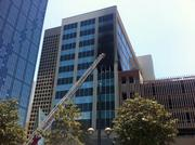 Dallas Fire-Rescue battled a three-alarm blaze in downtown Dallas. The vacant building is being renovated as a hotel.