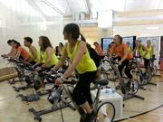 Torres led a spinning class of reporters, fitness bloggers, models and other women testing out the product.