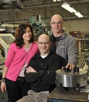 A German immigrant created CTM Corp. about 45 years ago. Today, his three children own and run the business. From left: Sharon Lanza; president Steven Naegele; vice president Erich Naegele.