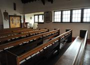 The pews at St. Augustine's Episcopal Church. On the average Sunday, 50 people attend.