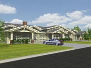 The development will also include independent-living, two-bedroom garden homes, as shown in this rendering.