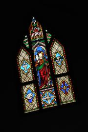 A stained-glass window at St. Augustine's Episcopal Church, in Ilion.