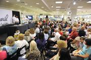 Emeril Lagasse's cooking demonstration at Belk's SouthPark store drew a crowd of about 300.