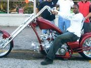 Lorenzen Wright on his custom motorcycle