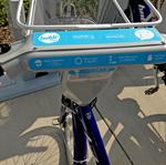 Getting behind the handlebars of a Bublr Bike in Milwaukee