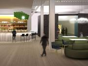 A rendering of Le Laboratoire Cambridge and Cafe ArtScience, which is slated to open Oct. 31 at 650 E. Kendall St.
