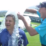 Boeing CEO Ray Conner takes Ice Bucket Challenge at Boeing Classic