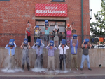 Wichita business leaders answer the ice bucket call from the WBJ (Video)