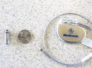 The Micra Transcatheter Pacing System, left by Medtronic is being used by Baptist Medical Center Jacksonville as part of a nationwide clinical trial. On the right is a traditional pacemaker.