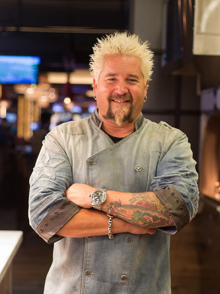 Guy Fieri Opens Burger Restaurant Concept At Gexa Energy