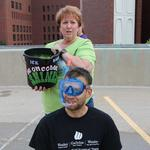 Wesley Medical Center CEO, staff take ALS ice bucket challenge