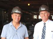 Herb Sih, managing partner of Think Big, and Rick Usher, Kansas City's assistant city manager, pose for a photo.