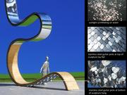 """""""River Concept,"""" a 45-foot sculpture, has been approved for West Riverfront Park. The sculpture is part of Metro's Public Art program, started in 2000."""