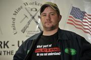 Jared Thayer, 23, who works in assembly at the Remington Arms factory.