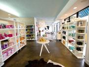 The retail area at Cortello Salon.