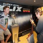 Want to see this year's Lombardi Trophy? Come to Seahawks Village
