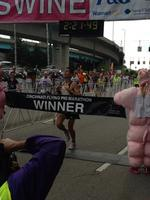 Working at Flying Pig Marathon brought sweat, smiles, success