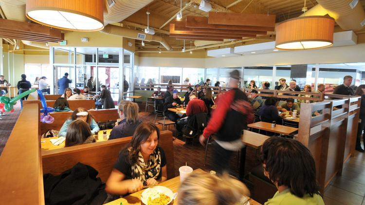 Patrons Dine Inside A Noodles Co Restaurant