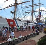Ships at Star-Spangled Spectacular on day two of the festival draw large crowds, despite heat