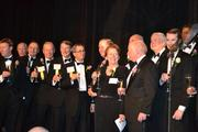 Honorees and their CEOs were welcomed onstage for a champagne toast at the 2013 Outstanding Directors Awards.
