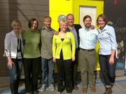 The SAGE team shows off classroom design at Green Build Conference 2012 in San Francisco. (Left to Right) Julie McEvoy Baines, Margarette Leite, Matt Sedor, Caty Head-Skogland, Sergio Palleroni, Seth Moody and Taryn Mudge.