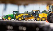 Some of the equipment included bulldozers, tractors and scissor lifts.