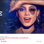 Covergirl to re-emerge at NFL draft months after running this ad of a model with a black eye