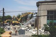 Crews from Colvin Gravel Company were handling the demolition.