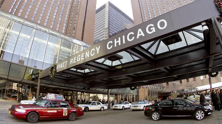 The Hyatt Regency Chicago Is S Large Convention Oriented Property In Windy City