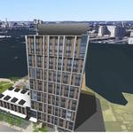 16-story tower on East Boston waterfront wins BRA approval