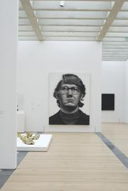 Chuck Close's Keith will greet guests as they walk through the new gallery space.