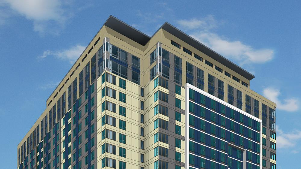 Construction Starts On Tukwila S Tallest Building A 19 Story Hotel And Apartment Project Puget Sound Business Journal