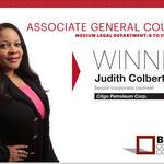 2014 Best Corporate Counsel: Associate General Counsel Medium Legal Department