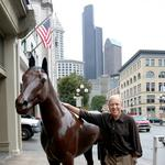He called a man in Mexico about a horse: Pioneer Square landmark is back (slideshow)
