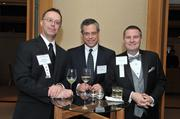 From left, Rob Terry of the Washington Business Journal, Emory Thomas of American City Business Journals and Doug Fruehling of the Washington Business Journal at the 2013 Outstanding Directors Awards.