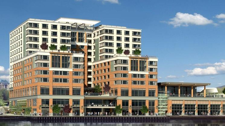 In A Nod To Seahawks New 180m On Hotel Has 12 Stories Puget Sound Business Journal
