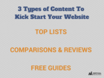 3 types of content to kick start your website
