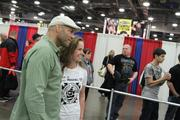 You can have your picture taken with celebs like MMA fighter Randy Couture.