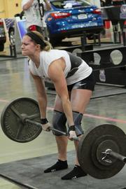 Women can compete in the Strongman competition as well.